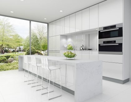 Creating the kitchen 'wow factor' with quartz