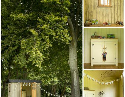 Dorset hutmakers Plankbridge unveil shepherd's hut with children in mind