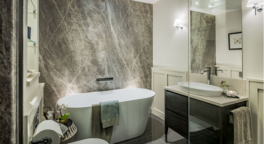 Bathroom Another Stunning Show: 38 Stunning Apartments Pick Nuance For Beautiful Bathrooms