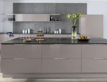 Caple's Juko Gloss kitchen prepares to shine with a Cashmere finish